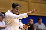 31 December 2015: UNCW head coach Adell Harris. The Duke University Blue Devils hosted the University of North Carolina Wilmington Seahawks at Cameron Indoor Stadium in Durham, North Carolina in a 2015-16 NCAA Division I Women's Basketball game. Duke won the game 78-56.