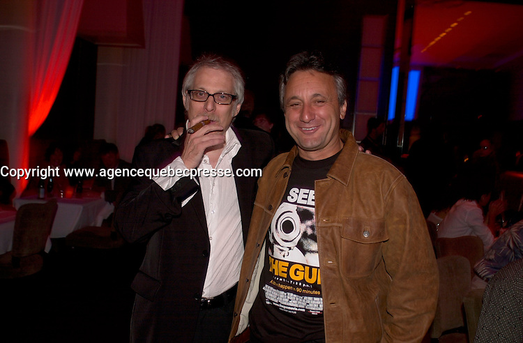 September 2,  2003, Montreal, Quebec, Canada<br /> <br /> Michel Zgarga (L) and Vladimir Alenikov, Director / Producer THE GUN, pose for an exclusive photo<br /> september 2 2003<br /> <br /> The Festival runs from August 27th to september 7th, 2003<br /> <br /> <br /> Mandatory Credit: Photo by Pierre Roussel- Images Distribution. (&copy;) Copyright 2003 by Pierre Roussel <br /> <br /> All Photos are on www.photoreflect.com, filed by date and events. For private and media sales