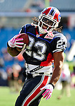 11 October 2009: Buffalo Bills' running back Marshawn Lynch warms up prior to facing the Cleveland Browns at Ralph Wilson Stadium in Orchard Park, New York. The Browns defeated the Bills 6-3 for Cleveland's first win of the season...Mandatory Photo Credit: Ed Wolfstein Photo