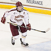 Pat Mullane (BC - 11) - The Boston College Eagles tied the visiting Yale University Bulldogs 3-3 on Friday, January 4, 2013, at Kelley Rink in Conte Forum in Chestnut Hill, Massachusetts.