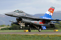 A Dutch F-15 with tiger pain scheme lands. Nato Tiger Meet is an annual gathering of squadrons using the tiger as their mascot. While originally mostly a social event it is now a full military exercise. Tiger Meet 2012 was held at the Norwegian air base Ørlandet.