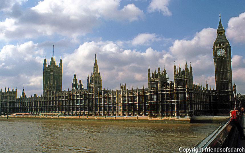 London: House of Parliament. Sir Charles Barry and A.W. Pugin, 1835-60.  Photo '78.