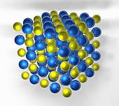 Molecular model of table salt, sodium chloride