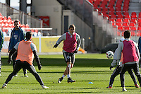 Toronto, ON, Canada - Friday Dec. 09, 2016: Jordan Morris during training prior to MLS Cup at BMO Field.