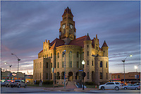 The courthouse in Decatur, Texas, is the county seat of Wise County. This image of the Wise County Courhouse shows the structure that was completed in 1897. It sits in the middle of the town square. A great snapshot of small town life in Texas, this square is similar to many of the towns around the state of Texas. It is a nice place to spend an evening, grab a burger and beer, and watch the world go by.