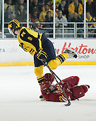 The University of Michigan ice hockey team beat Ferris State University, 4-1, at Yost Ice Arena in Ann Arbor, Mich., on March 1, 2013.