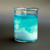 COLLIGATIVE PROPERTY: FREEZING CUPRIC SULFATE(AQ).CuSO4*5H2O (Copper II Sulfate).A nonvolatile solute (CuSO4) lowers the freezing point of the solvent, water. As the almost pure solvent freezes out, the solution becomes more concentrated and the freezing point lowers further.