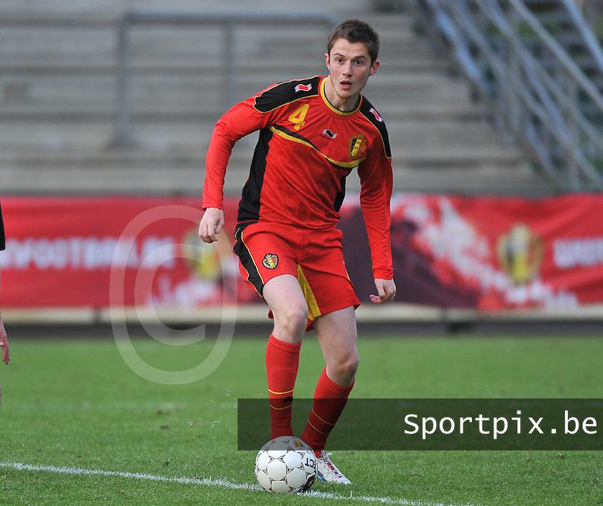 Belgium U19 - England U19 : Corentin Fiore.foto DAVID CATRY / Nikonpro.be