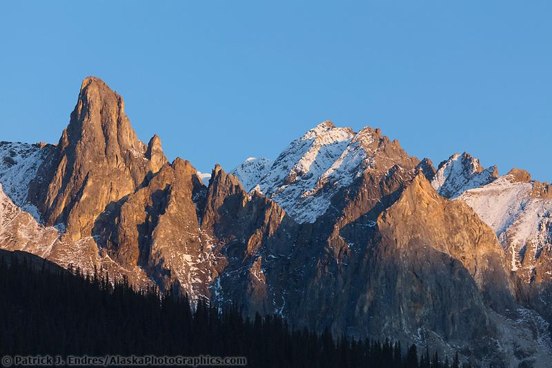 Mount Snowden of the Brooks range mountains, arctic Alaska.