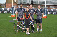 Olympics star Victoria Pendleton at Gatorade event at Sale Rugby Clubs training Ground