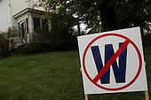 Uniontown, Pennsylvania.USA.October 23, 2004..Anti-Bush sign.