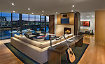 fireplace. Home Living Room Modern loft condo apartment in Washington DC