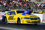May 18, 2012; Topeka, KS, USA: NHRA pro stock driver Jeg Coughlin during qualifying for the Summer Nationals at Heartland Park Topeka. Mandatory Credit: Mark J. Rebilas-