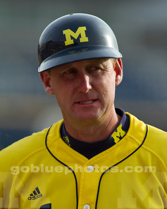 The University of Michigan baseball team lost both legs of a doubleheader to Indiana, 11-8 and 11-5, at the Wilpon Baseball Complex in Ann Arbor, Mich., on April 29, 2012.