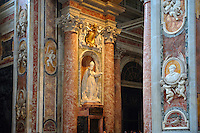 Baroque decorations of the Interior of St Peter's, The Vatican, Rome