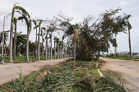 Damage from Hurricane Francis, West Palm Beach, Florida, USA