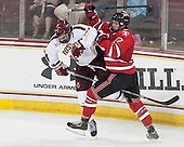 Isaac MacLeod (BC - 7), Milos Bubela (RPI - 17) - The Boston College Eagles defeated the visiting Rensselaer Polytechnic Institute Engineers 7-2 on Sunday, October 13, 2013, at Kelley Rink in Conte Forum in Chestnut Hill, Massachusetts.