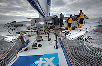 Onboard the Maxi Trimaran Banque Populaire V