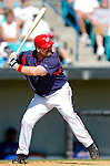 15 March 2006: Matthew LeCroy, catcher for the Washington Nationals, at bat during a Spring Training game against the New York Mets. The Mets defeated the Nationals 8-5 at Space Coast Stadium, in Viera, Florida...Mandatory Photo Credit: Ed Wolfstein..
