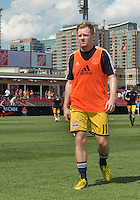 July 20, 2013: New York Red Bulls midfielder Dax McCarty #11 walks off the pitch after the warm-up during a game between Toronto FC and the New York Red Bulls at BMO Field in Toronto, Ontario Canada.<br /> The game ended in a 0-0 draw.