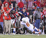 Mississippi wide receiver Donte Moncrief (12) breaks away from Texas' Quandre Diggs (6) at Vaught-Hemingway Stadium in Oxford, Miss. on Saturday, September 15, 2012. (AP Photo/Oxford Eagle, Bruce Newman)