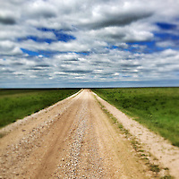 """The open range of Kansas, as seen on the route of the 2013 Dirty Kanza 200, a 200-mile dirt road (""""gravel grinder"""") race across Kansas."""