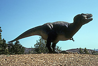 Pre-historic Animals: Tyrannosaurus Rex--late Cretaceous. Ht., 20+ ft.; length, 50 ft.; weight, up to 6 tons.