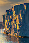 Melt streaming off a blocky iceberg, Svalbard, Norway
