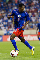 Haiti midfielder Jean Sony Alcenat (2) during a CONCACAF Gold Cup group B match at Red Bull Arena in Harrison, NJ, on July 8, 2013.
