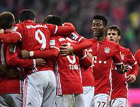 Fussball  1. Bundesliga  Saison 2016/2017  14. Spieltag  FC Bayern Muenchen - VfL Wolfsburg    10.12.2016 JUBEL FC Bayern Muenchen; David Alaba (re)