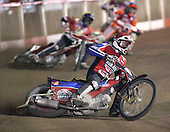 Heat 7 - Shields (red), Swiderski (yellow), Mills - Lakeside Hammers vs Peterborough Panthers - Sky Sports Elite League at Arena Essex, Purfleet - 31/08/07  - MANDATORY CREDIT: Gavin Ellis/TGSPHOTO - SELF-BILLING APPLIES WHERE APPROPRIATE. NO UNPAID USE. TEL: 0845 094 6026..