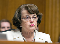 United States Senator Dianne (Democrat of California), Ranking Member, US Senate Committee on the Judiciary makes a statement on the President's firing of FBI Director James Comey on Capitol Hill in Washington, DC on Wednesday, May 10, 2017.<br /> Credit: Ron Sachs / CNP /MediaPunch