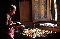Tibtean monk living in exile in Kathmandu, Nepal.