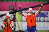 SCHAATSEN: HAMAR: Vikingskipet, 11-01-2014, Essent ISU European Championship Allround, Podium Men, Koen Verweij (NED), Jan Blokhuijsen (NED), ©foto Martin de Jong