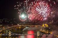 Budapest fireworks 2012