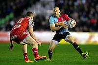 Mike Brown of Harlequins in possession. European Rugby Challenge Cup semi final, between Harlequins and Grenoble on April 22, 2016 at the Twickenham Stoop in London, England. Photo by: Patrick Khachfe / JMP