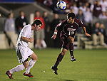 14 December 2007: Massachusetts' Greg Cirillo (13). The Ohio State University Buckeyes defeated the University of Massachusetts Minutemen 1-0 at SAS Stadium in Cary, North Carolina in a NCAA Division I Mens College Cup semifinal game.