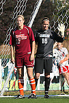 09 November 2008: Virginia Tech's Robin Chidester (17) and North Carolina's Ashlyn Harris (18). The University of North Carolina Tarheels defeated the Virginia Tech University Hokies 3-0 at WakeMed Stadium at WakeMed Soccer Park in Cary, NC in the women's ACC tournament championship game.