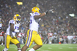 LSU linebacker Kevin Minter (46) recovers a fumble for a touchdown  . vs. Ole Miss at Vaught-Hemingway Stadium in Oxford, Miss. on Saturday, November 19, 2011.