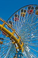 Pacific Park, Pier, Ferris Wheel, Amusement, Santa Monica, CA, Vertical, Detail