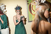 SSD Design model, backstage at Redress Raleigh, 5th Annual Eco-Fashion Show, Saturday, March 23, 2013.