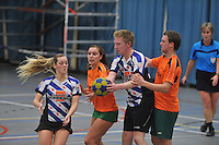 KORFBAL: HEERENVEEN: Blauw-Withal, 23-11-2013, Overgangsklasse A, KV Heerenveen - SDO/VerzuimVitaal, Eindstand 15-26, Dagmar Welling (Heerenveen), ©foto Martin de Jong