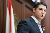 TALLAHASSEE, FLA. 11/18/14-ORGSESS111814CH-House Speaker Rep. Steve Crisafulli, R-Merritt Island, speaks during Organizational Session of the legislature, Nov. 18, 2014 at the Capitol in Tallahassee.<br /> <br /> COLIN HACKLEY PHOTO