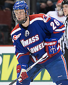 Christian Folin (UML - 26) - The visiting University of Massachusetts Lowell River Hawks defeated the Boston University Terriers 3-0 on Friday, February 22, 2013, at Agganis Arena in Boston, Massachusetts.