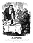 """In Confidence."" Dining-room, Apelles Club. Diner. ""Thompson, do the members ask for this wine?"" Head Waiter (sotto voce). ""Not twice, sir!"""