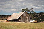 Weathered wooden barn, Calaveras County, Calif.
