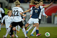 Offenbach, Germany, Friday, April 05 2013: Womans, Germany vs. USA, in the Stadium in Offenbach,   Tobin Heath (USA).