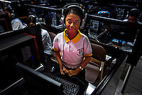 11 year old Nuriska Makdiani, a former student of Kartini Emergency School, works at the language lab of a National Plus School called Universal School. In 2001, Nuriska was a first grade student at Kartini and was one of the twin sisters' brightest students. Nuriska remembers, &quot;There was this Indian man, a friend of the twin sisters, who came to our school under the bridge and offered two scholarships for two students to attend the Universal school. The twins recommended me and another student and after a series of tests, I was accepted for the scholarship.&quot; Nuriska is now a sixth grade student, on full scholarship, at the Universal School with outstanding grades. Since the early 1990s, twin sisters Sri Rosyati (known as Rossy) and Sri Irianingsih (known as Rian) have used their family inheritance to set up and run 64 schools in different parts of Indonesia, providing primary education combined with practical skills to some of the country's most deprived children.