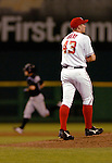 14 June 2006: Bill Bray, pitcher for the Washington Nationals, walks up the mound as Jamey Carroll circles the bases after tagging Bray for a home run in a game against the Colorado Rockies in Washington, DC. The Rockies defeated the Nationals 14-8 in front of 24,273 fans at RFK Stadium...Mandatory Photo Credit: Ed Wolfstein Photo.