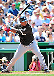 20 June 2010: Chicago White Sox third baseman Dayan Viciedo in action during a game against the Washington Nationals at Nationals Park in Washington, DC. The White Sox swept the Nationals winning 6-3 in the last game of their 3-game interleague series. Mandatory Credit: Ed Wolfstein Photo
